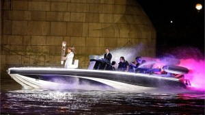 Jade holds the flame as Beckham drives